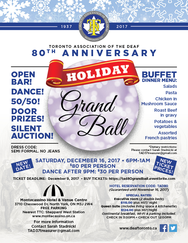 TAD 80th Grand Ball (updated 9/14/17)